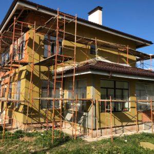 Фасадные работы: Утепление дома в ДНП Люкс проект