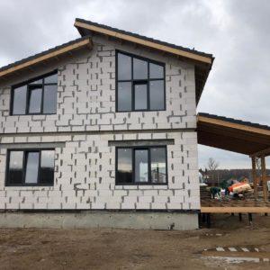 Начало фасадных работ в КП Жюльверн участок 576