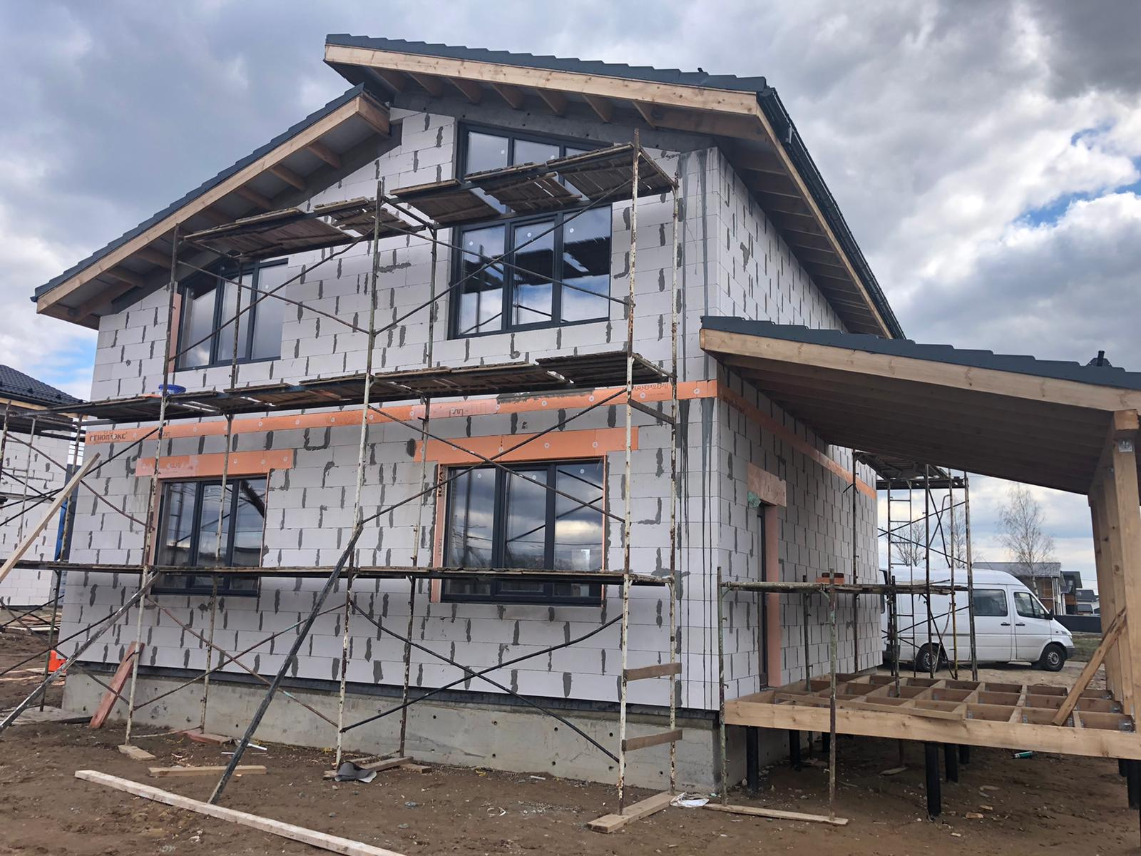 Начало фасадных работ в КП Жюльверн 580