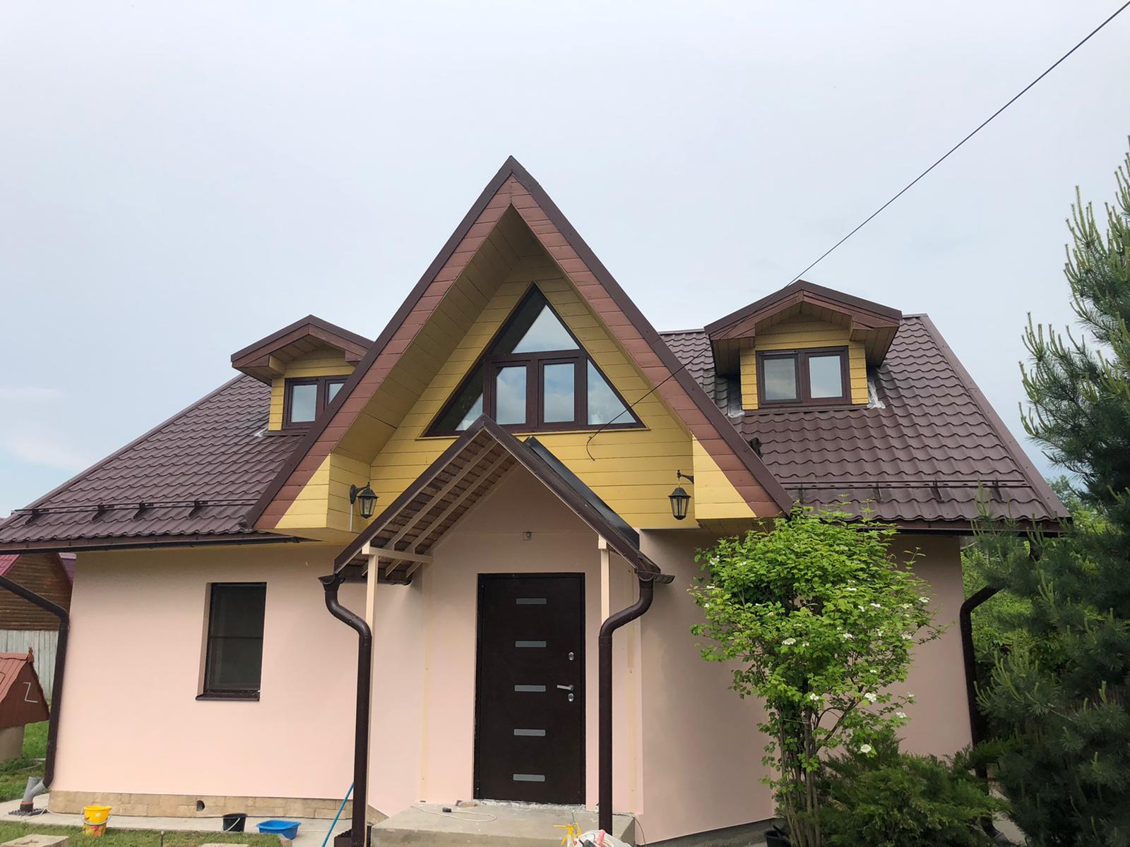 Законченные фасадные работы в поселке Вороновское деревня Новогромово