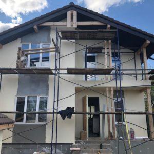 Фасадные работы: нанесение штукатурки в Раменском