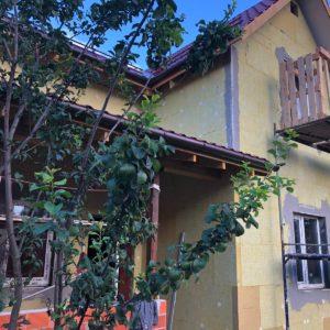 Начало фасадных работ и утепление дома в Московской области, деревня Сорокино