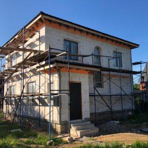 Начало фасадных работ в деревне Лукошкино