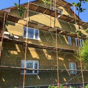 Фасадные работы: утепление дома в мкр-не Опалиха